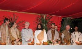 门徒他的耶稣最后的晚餐 免版税库存照片