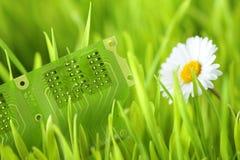 электрическая зеленая технология Стоковая Фотография