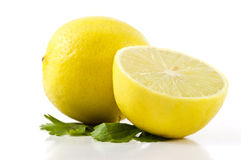 水多的柠檬 库存照片