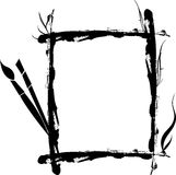 画笔徽标冲程 免版税库存照片