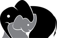 大象徽标 免版税库存照片