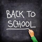 回到黑板黑板学校 免版税库存照片