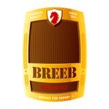 啤酒设计标签 库存图片