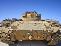 沙漠后方坦克视图 库存图片