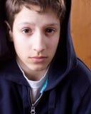 мальчик неуверенный Стоковая Фотография RF
