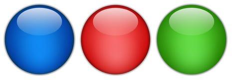 сеть пустой кнопки лоснистая Стоковые Фотографии RF