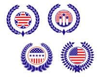 美国爱国符号 免版税库存照片