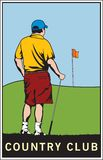 γκολφ χωρών λεσχών Στοκ Εικόνες