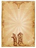 текст ковбоя предпосылки старый бумажный Стоковое Изображение RF