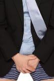 下来生意人长裤 免版税库存图片