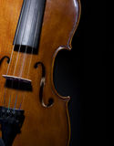黑色接近的小提琴 库存图片