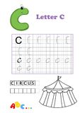 цирк алфавита Стоковое Изображение