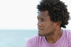 африканские детеныши человека пляжа Стоковое Изображение RF