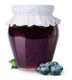 蓝莓果酱 免版税库存图片
