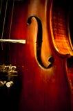 关闭小提琴 免版税库存图片