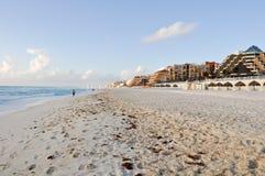 坎昆墨西哥海滩 库存图片