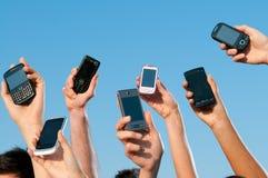 κινητά σύγχρονα τηλέφωνα Στοκ εικόνες με δικαίωμα ελεύθερης χρήσης