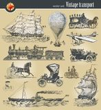 历史运输葡萄酒 免版税库存照片