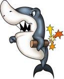 放火狂鲨鱼 库存照片