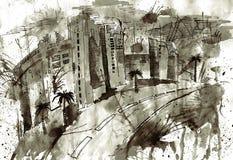 μεγαλούπολη σπιτιών αρχι& Στοκ φωτογραφία με δικαίωμα ελεύθερης χρήσης