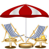 海滩睡椅二 免版税库存图片