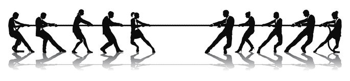 война гужа людей конкуренции дела Стоковая Фотография RF