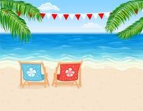 海滩热带假期 图库摄影