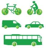 переход зеленого цвета принципиальной схемы Стоковые Фотографии RF