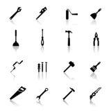инструменты установленные иконами Стоковые Изображения