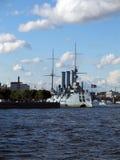 巡洋舰俄语 免版税库存照片