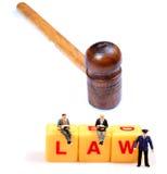 下法律压 免版税库存图片