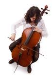 大提琴手年轻人 图库摄影