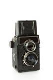 摄象机镜头老反射孪生 库存图片