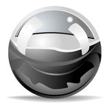 глянцеватое шарика металлическое Стоковая Фотография
