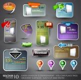 设计元素集多种万维网 免版税图库摄影
