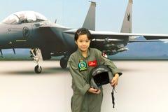 飞行员年轻人 库存图片