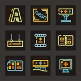 σειρά εικονιδίων διαφήμισης Στοκ Εικόνες