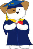 逗人喜爱的毕业小狗 免版税图库摄影