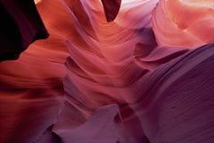 羚羊峡谷五颜六色更低 免版税库存照片
