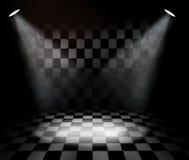 черная белизна комнаты проверки Стоковое Фото