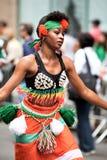 非洲舞蹈演员 库存照片