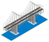 桥梁等轴测图 免版税库存照片