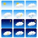 设置天气 图库摄影