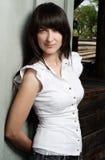 портрет девушки брюнет Стоковая Фотография RF