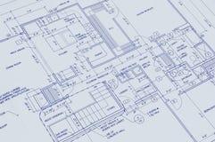 图纸房子 免版税库存照片