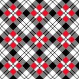 黑色对角红色白色 免版税库存照片