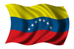 флаг Венесуэла Стоковая Фотография