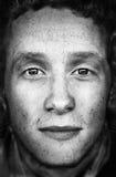 μαύρο λευκό προσώπου Στοκ φωτογραφία με δικαίωμα ελεύθερης χρήσης