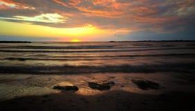 восход солнца пляжа Стоковое Изображение RF