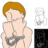 άτομο χειροπεδών Στοκ Εικόνα
